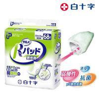 【白十字】全透氣R高吸收防漏尿片-男用(箱購272片/68片x4包-日本原裝進口)