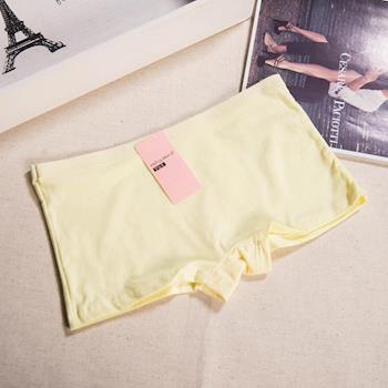 【BoBo少女系】安全褲.學生內褲.少女內褲.四角內褲.平口褲-3件入(素面-黃色)