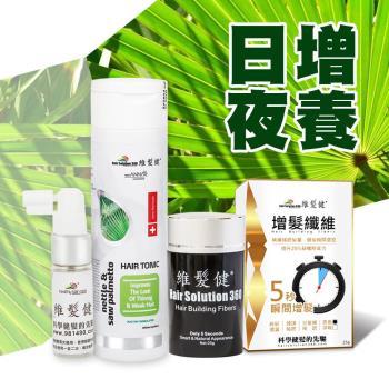【維髮健】日間增髮夜間養髮-鋸棕櫚養髮液+增髮纖維