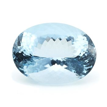 Dolly  天然海水藍寶橢圓型裸石