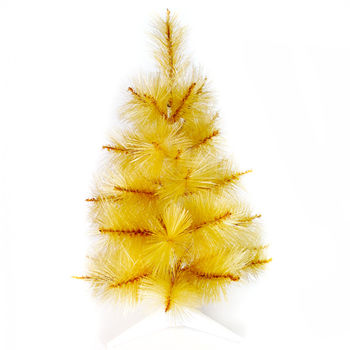 台灣製3尺/3呎(90cm)特級金色松針葉聖誕樹裸樹 (不含飾品)(不含燈)
