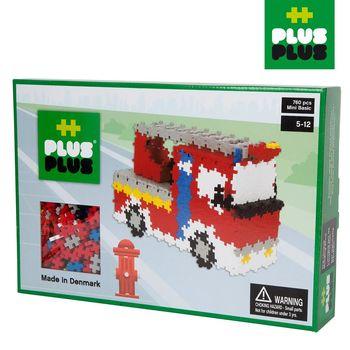 【BabyTiger虎兒寶】++Plus-Plus 加加積木 - Mini 小顆粒-彩虹系列 消防車 760pcs (盒裝)