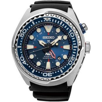 【SEIKO 精工】Prospex PADI GMT 深海藍水鬼200米潛水聯名錶(48mm/5M85-0AB0B)