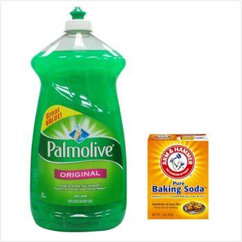 【美國 Palmolive】棕欖濃縮洗碗精(52oz/1530ml*3)+[美國 ArmHammer]小蘇打粉(454g)*6
