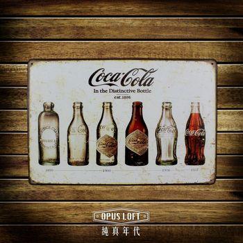 OPUS LOFT 纯真年代仿旧可口可乐铁皮划20x30cm