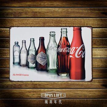 OPUS LOFT纯真年代 20X30仿旧可乐瓶铁皮划/创意无痕壁贴 (TP1145)