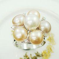 【蕾帝兒珠寶】花漾情人天然珍珠戒指