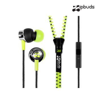 【Zipbuds】拉鍊專利耳機-入耳式 Pro Mic 系列-電音黃 (附線控裝置及麥克風)