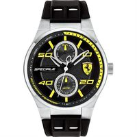 Scuderia Ferrari 法拉利 SPECIALE 日曆腕錶-黑/44mm 0830355