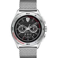 Scuderia Ferrari 法拉利 急速三眼計時腕錶-黑x銀/45mm 0830347