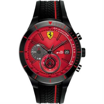 Scuderia Ferrari 法拉利 RedRev Evo 計時手錶-紅x黑/46mm 0830343