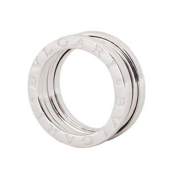 BVLGARI 寶格麗 B.zero1 18K白金三環戒環