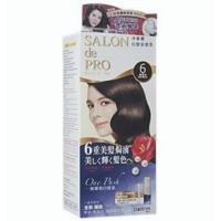 日本dariya沙龍級ONE PUSH女士用白髮染髮乳(6黑褐棕)*3