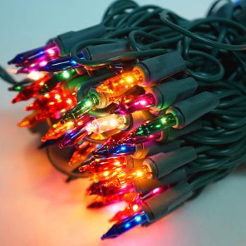 聖誕燈串-100燈彩色樹燈(鎢絲燈-浪漫四彩色)(可搭聖誕樹)