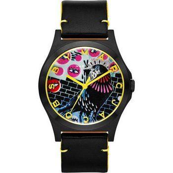 Marc Jacobs Holiday Henry 塗鴉藝術時尚腕錶-黑/40mm MBM8621