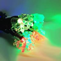 聖誕燈裝飾燈LED20燈雪花燈造型燈(彩色光)(插電式/自動雙色雙閃)