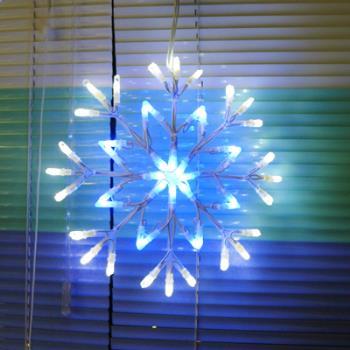 聖誕燈LED燈48燈藍白雪花片造型燈(附控制器)(高亮度又省電)