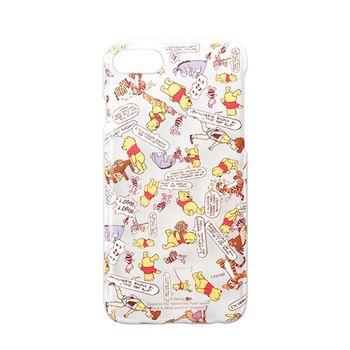 iJacket 迪士尼 iPhone7 Plus 5.5吋 透明亂花 硬式保護殼 - 小熊維尼 限定款