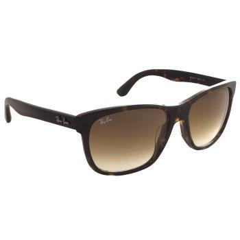 【Ray Ban 雷朋】4181F-902/51 超輕材質-玻璃鏡面太陽眼鏡(琥珀框-漸層棕鏡面)