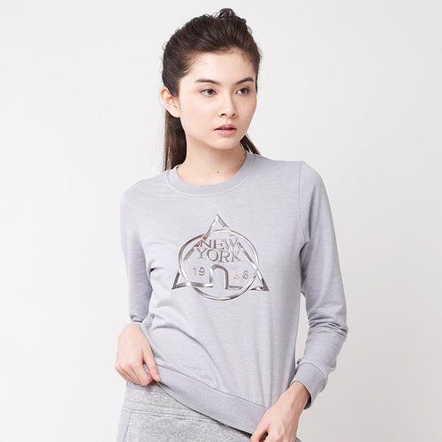 【美國 AIRWALK】NEW YORK圓領T恤-女-淺灰