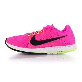 【NIKE】ZOOM STREAK 6 男女路跑鞋-慢跑 訓練 亮粉白
