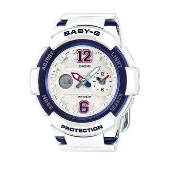BABY-G 運動球衣概念立體感街頭休閒錶 BGA-210-7B2