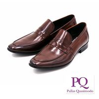 PQ 直套式尖頭男仕皮鞋 男鞋-棕(另有黑)