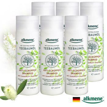 【德國alkmene】茶樹精油去屑控油洗髮精200ml超值六入組