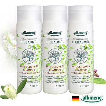 【德國alkmene】茶樹精油去屑控油洗髮精200ml三入組
