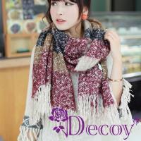 【Decoy】渲染流蘇*仿羊毛編織圍巾/四色可選