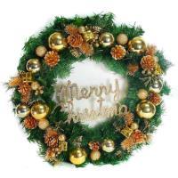 20吋豪華高級聖誕花圈(金色系)(台灣手工組裝出貨)