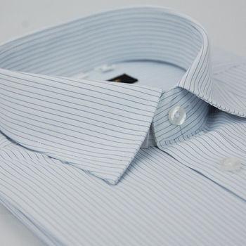 任-【金安德森】白底藍細紋窄版短袖襯衫