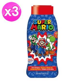 【義大利原裝進口】Super Mario有機植萃洗髮沐浴乳(青蘋果香)-250ml ( 3入組 )