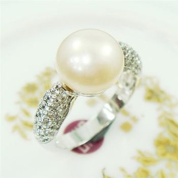 【蕾帝兒珠寶】柔意天然珍珠戒指