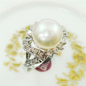 【蕾帝兒珠寶】柔愛天然珍珠戒指