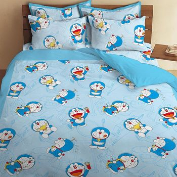 享夢城堡 哆啦A夢雙人床包涼被組(我的法寶系列)