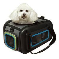 【IBIYAYA依比呀呀】自由坐寵物交通包-藍綠 FC1252