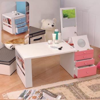 《C&B》第二代折疊和室掀鏡化妝書桌