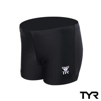 美國TYR兒童四角黑色訓練款泳褲Solid Boxer Trunk