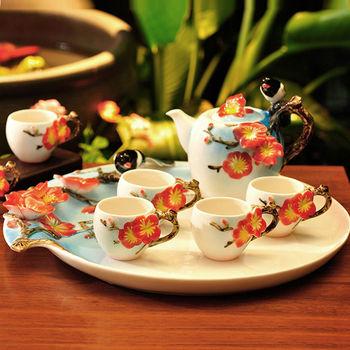 【Pure】喜上梅梢茶具八件組