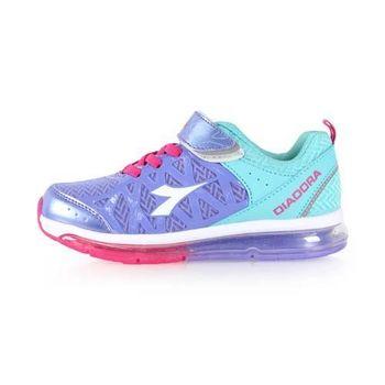 【DIADORA】男女中童段慢跑鞋-路跑 童鞋 寬楦 紫水藍