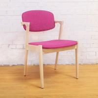 Bernice-萊爾實木餐椅-桃紅色款(四入組合)