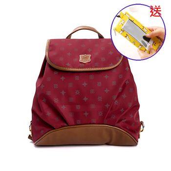 DF Queenin日韓 - 日本熱銷款輕便淑女小巧後背包-共5色(送手機袋零錢包)