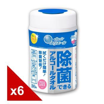 日本大王elleair抗菌濕紙巾 (100抽x6包)