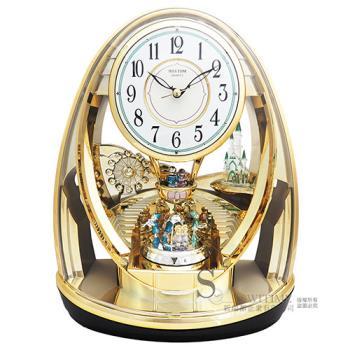 【RHYTHM日本麗聲】童話舞會雙擺錘宮廷藝術座鐘