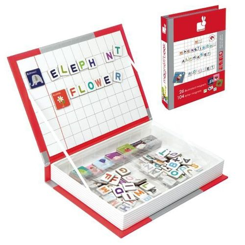 【法國 Janod】磁鐵遊戲書-英文字母拼字