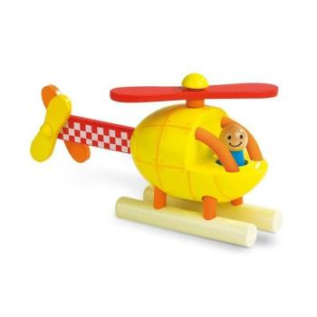 【法國 Janod】磁性拼裝積木-直升機