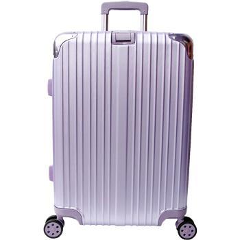 YC Eason 麗致24吋PC髮絲紋可加大行李箱-紫色
