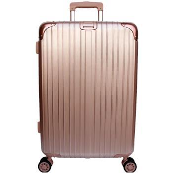 YC Eason 麗致20吋PC髮絲紋可加大行李箱-玫瑰金