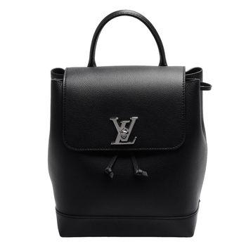 LOUIS VUITTON M41815 Lockme系列小牛皮轉釦後背包(黑)